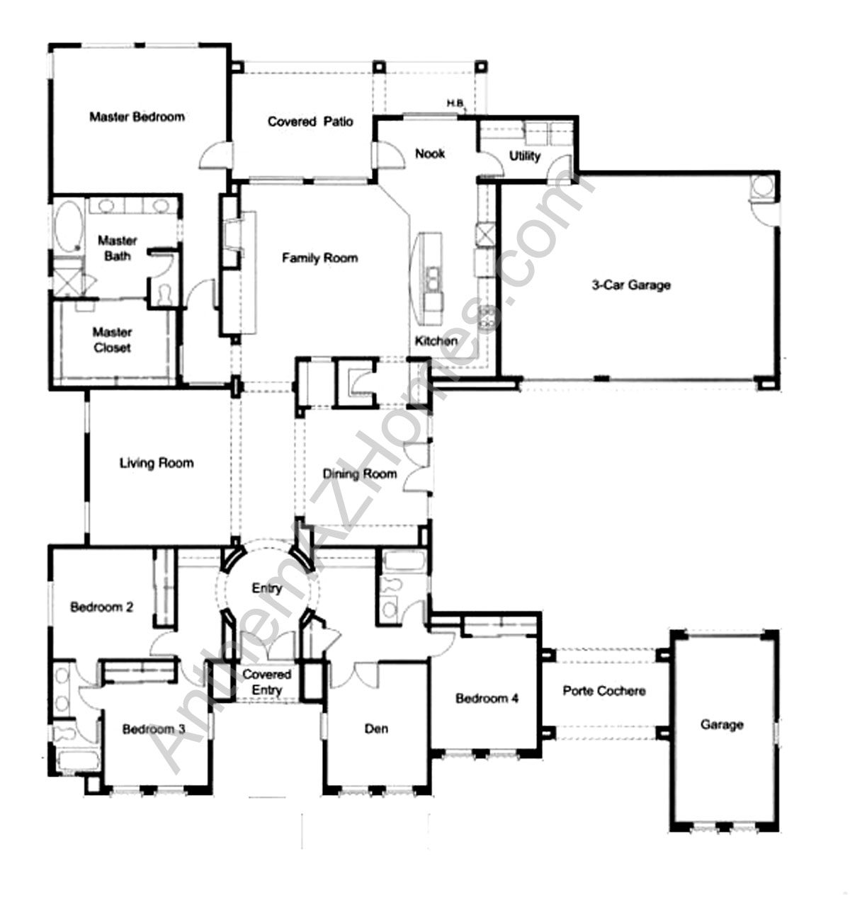 Anthem arizona home floor plans house design plans for Az house plans